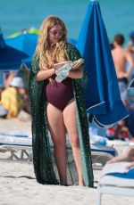 SASHA PIETERSE in Swimsuit at a Beach in Miami 05/09/2017