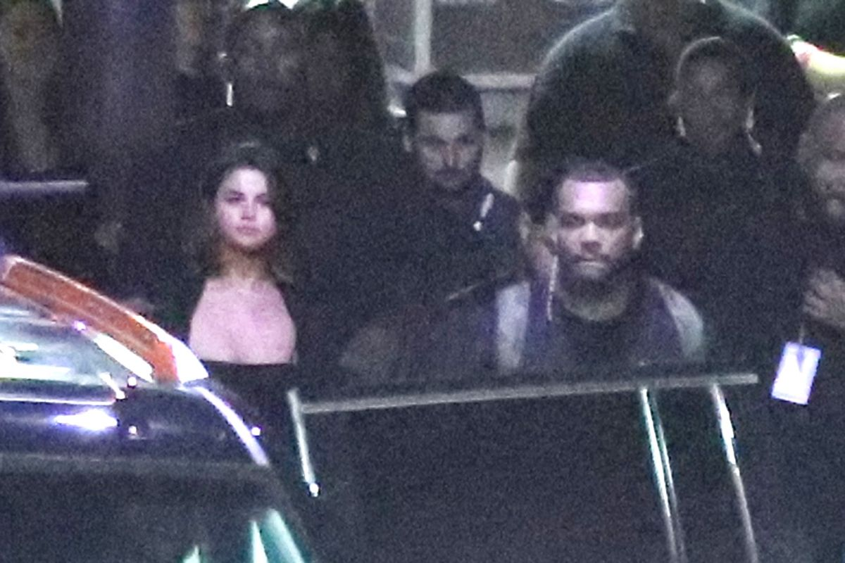 SELENA GOMEZ and The Weekd Leaves Out of the Back of The Forum in Inglewood 04/30/2017