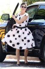 SELMA BLAIR in Polka Dot Dress Out in Los Angeles 05/20/2017
