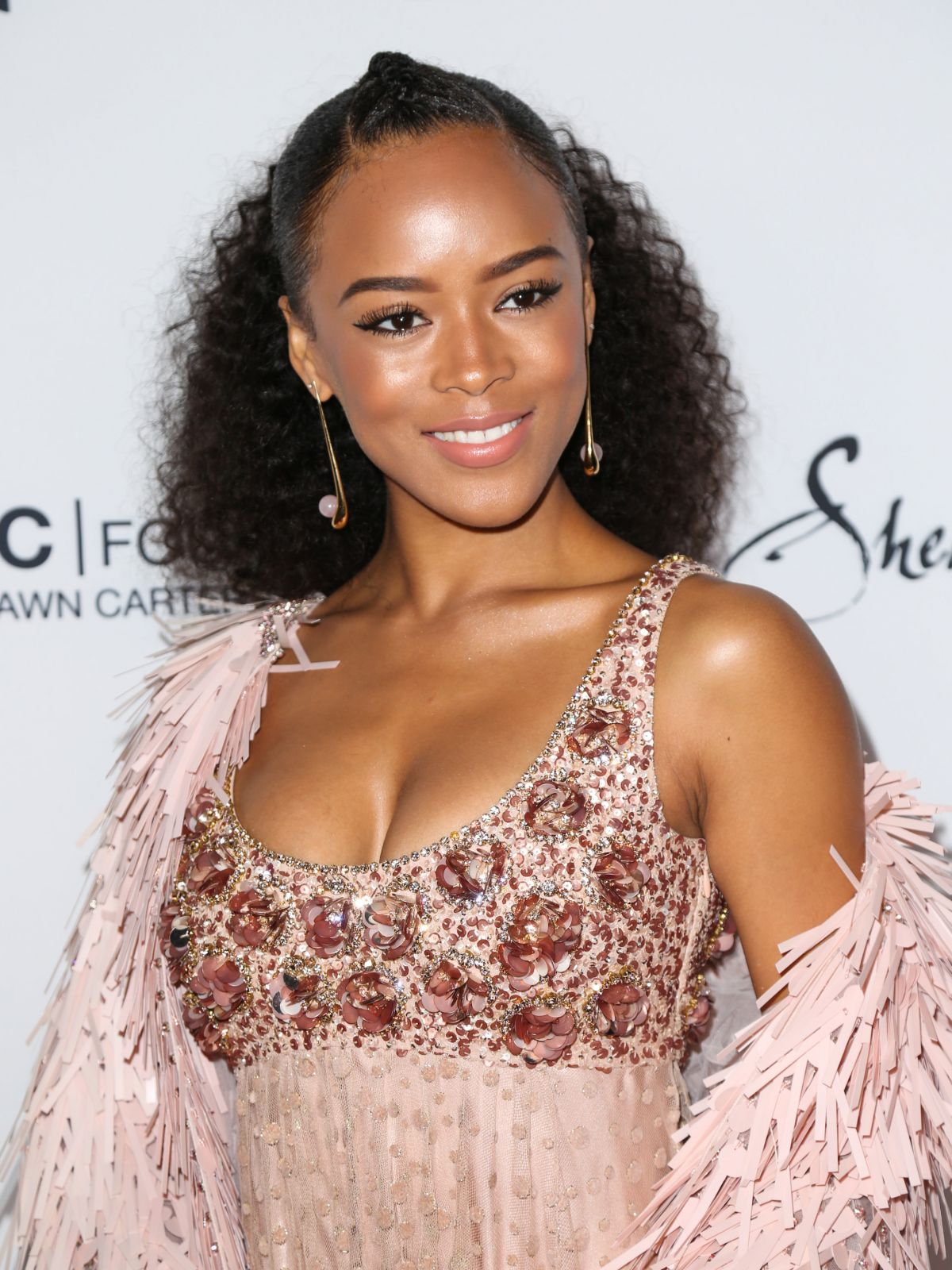 SERAYAH MCNEILL at Wearable Art Gala at California African American Museum in Los Angeles 04/29/2017