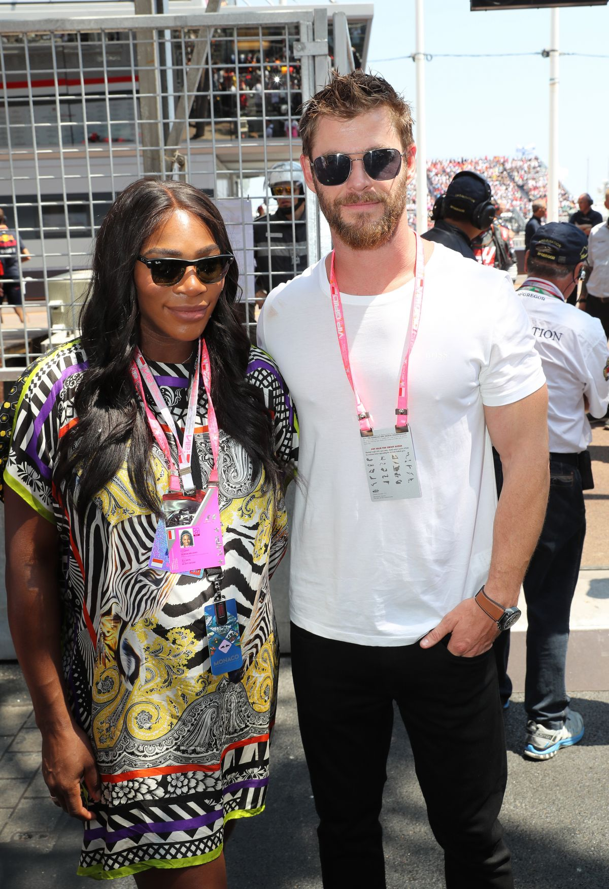 SERENA WILLIAMS at Pitlane at 75th Monaco Formula 1 Grand Prix 05/28/2017