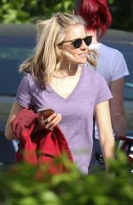 SIENNA MILLER Arrives at the Set of The Burning Woman in Canton 05/16/2017