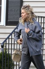 SIENNA MILLER on the Set of The Burning Woman in Brockton 05/08/2017