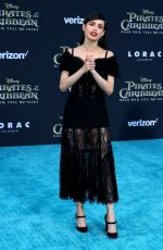 SOFIA CARSON at Pirates of the Caribbean: Dead Men Tell no Tales Premiere in Hollywood 05/18/2017