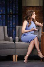 SOPHIA BUSH at Late Night with Seth Meyers 05/10/2017