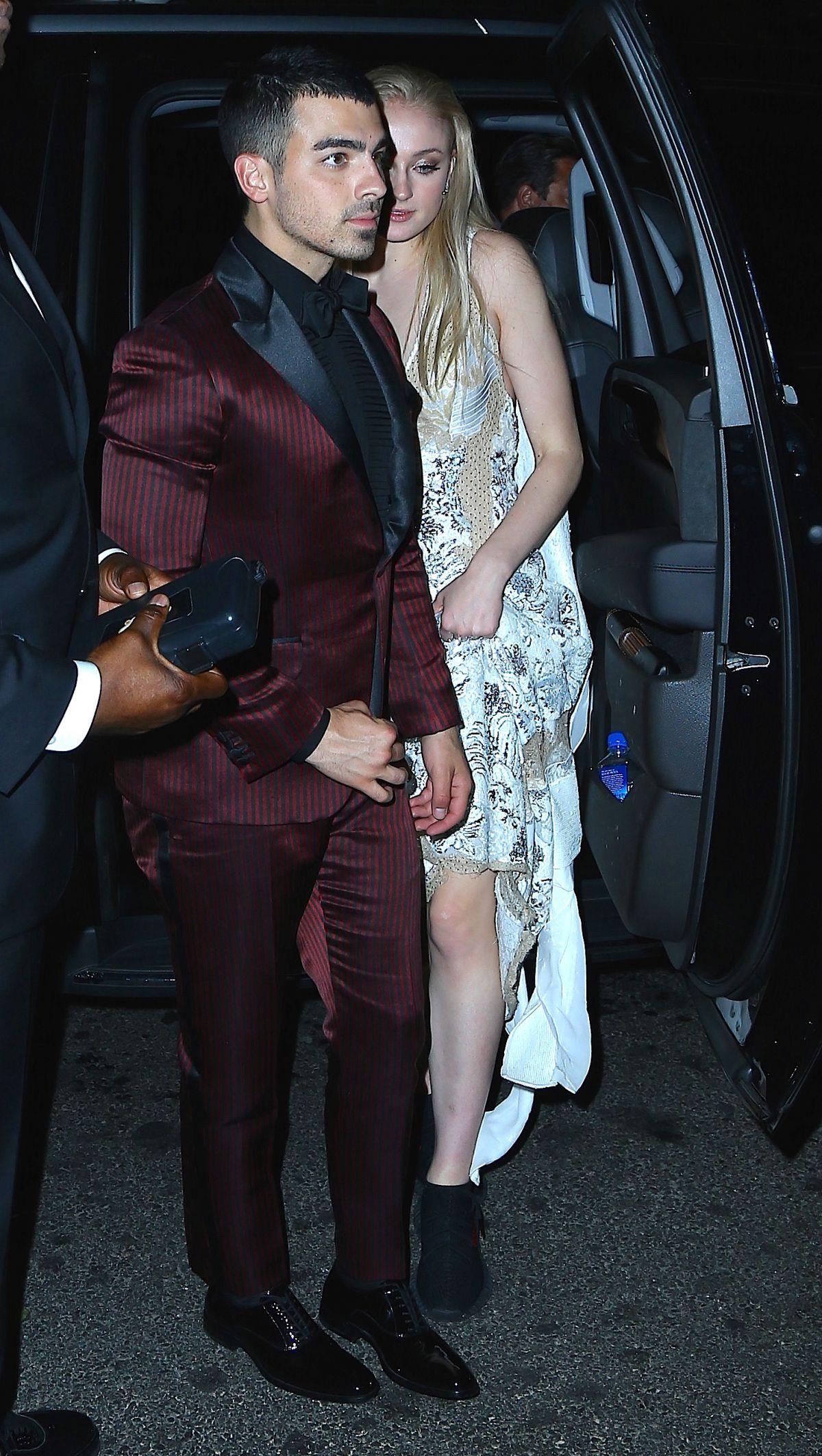 SOPHIE TURNER and Joe Jonas at MET Gala After Party in New York 05/01/2017