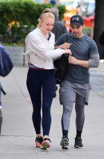 SOPHIE TURNER and Joe Jonas Leaves a Gym in New York 05/08/2017
