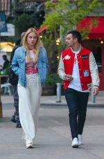 SOPHIE TURNER and Joe Jonas Out for Evening Walk in New York 05/09/2017