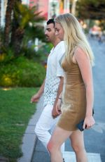 SOPHIE TURNER and Joe Jonas Out for Lunch in Cannes 05/23/2017