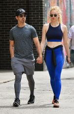 SOPHIE TURNER and Joe Jonas Out for Lunch in New York 04/30/2017