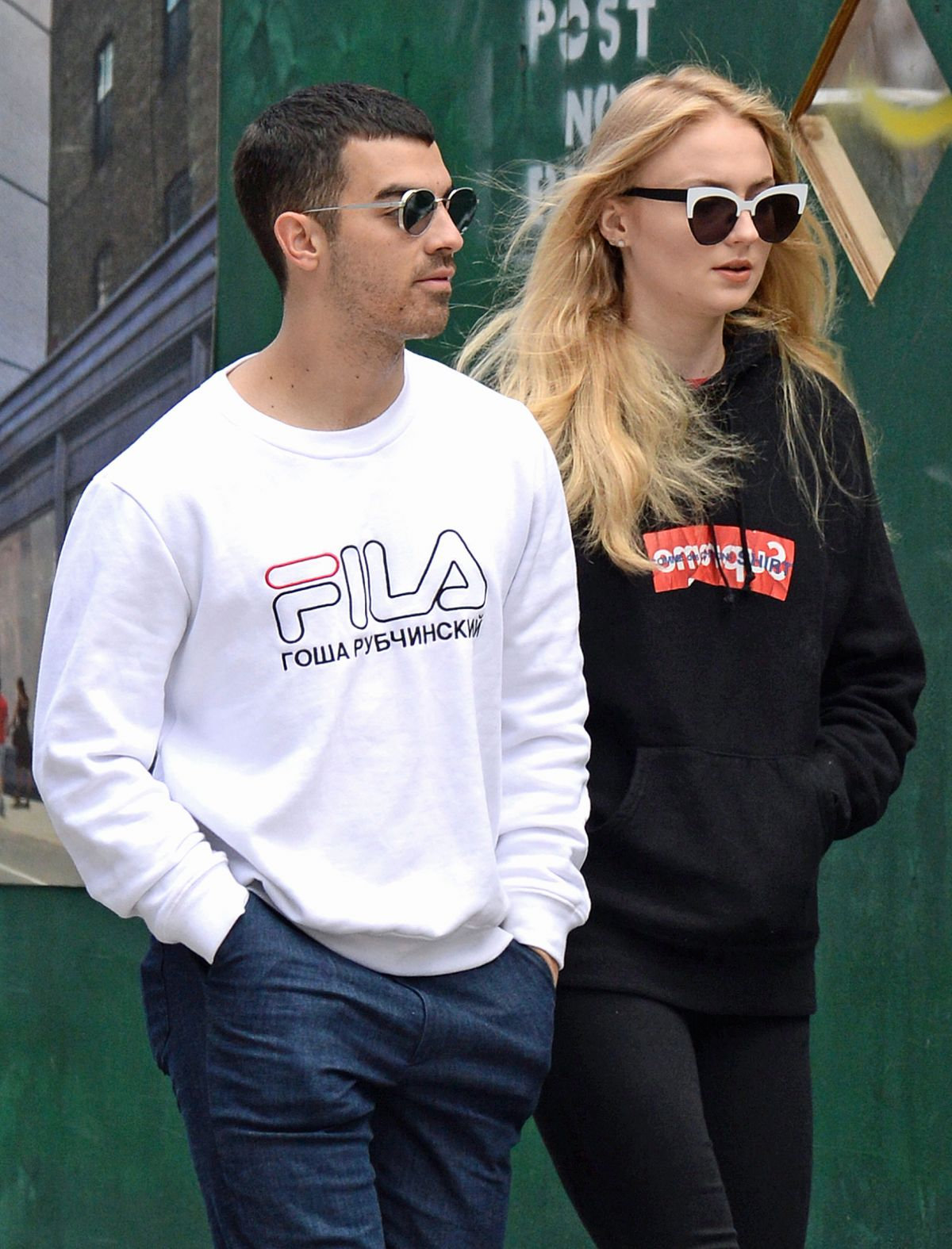 SOPHIE TURNER and Joe Jonas Out for Lunch in New York 05/09/2017