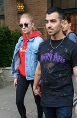 SOPHIE TURNER and Joe Jonas Out in New York 05/02/2017