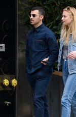 SOPHIE TURNER in Denim and Joe Jonas Out in New York 05/03/2017