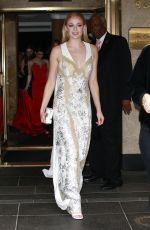 SOPHIE TURNER on Her Way to MET Gala in New York 05/01/2017