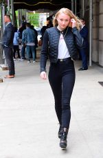 SOPHIE TURNER Out and About in New York 04/30/2017