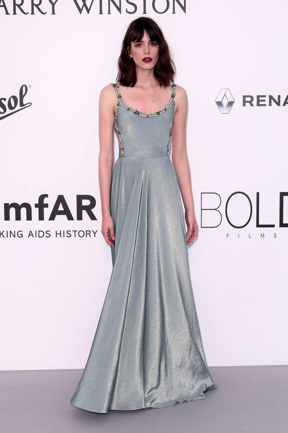 STACY MARTIN at Amfar's 24th Cinema Against Gala at Cannes Film Festival 05/25/2017