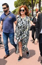 SUSAN SARANDON Out and About in Cannes 05/18/2017