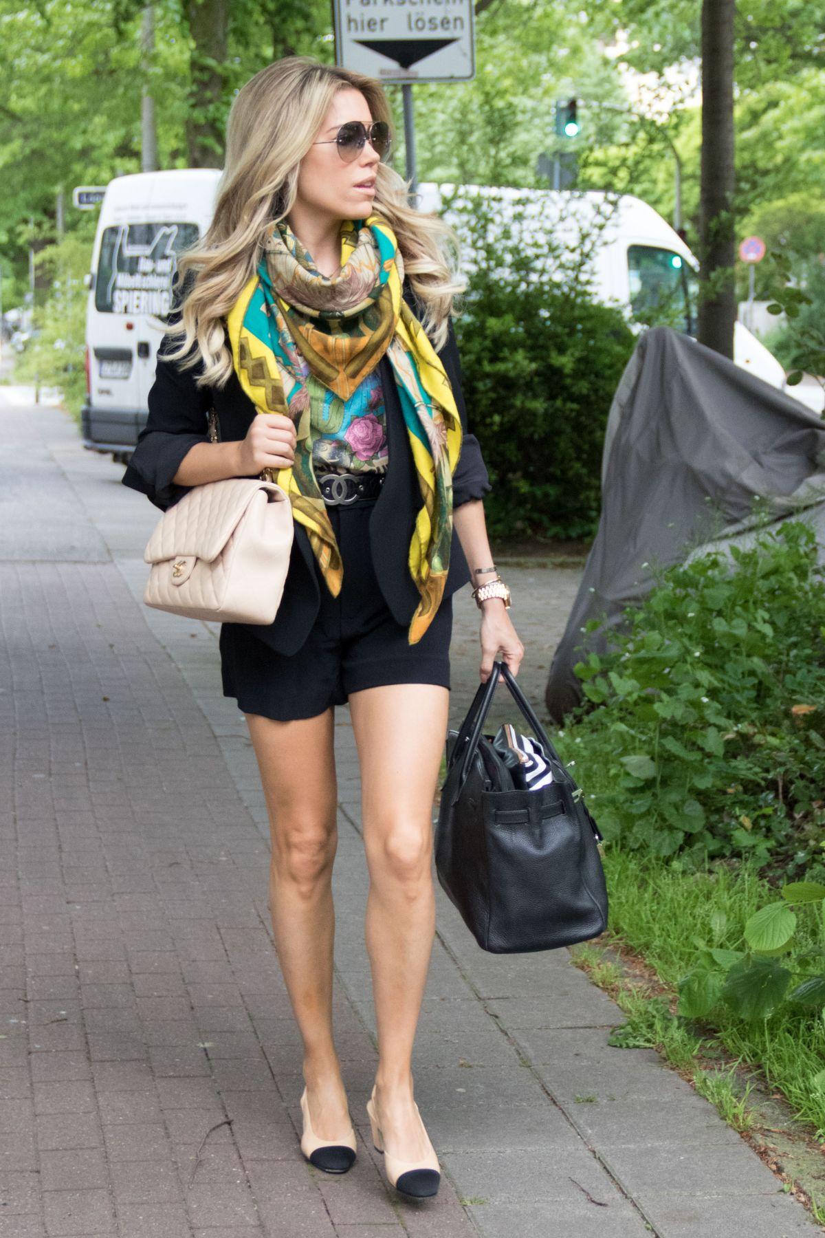 SYLVIE MEIS Leaves Her Apartment in Hamburg 05/24/2017