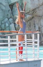 TALLIA STORM in Swimsuit at Eden Roc Hotel Pool in Cannes 05/19/2017