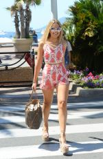 TALLIA STORM Leaves Martinez Beach in Cannes 05/21/2017