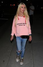 TARA REID Out for Dinner in Hollywood 05/13/2017