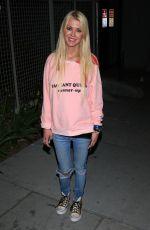 TARA REID Out for Dinner in Hollywood 05/13/2017