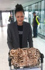 Thandie Newton spotted at Heathrow Airport in London 05/04/2017
