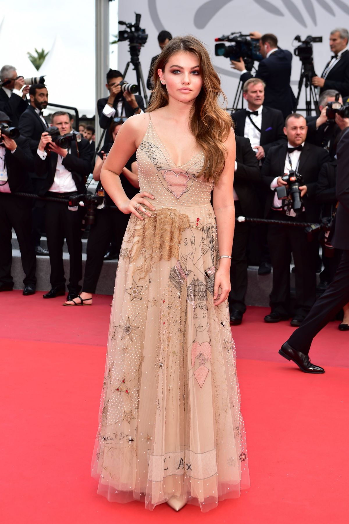 Cannes 2017 Heidi Klum Continues A Cannes Tradition In: THYLANE BLONDEAU At Loveless Premiere At 2017 Cannes Film