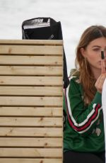THYLANE BLONDEAU on the Set of L`Oreal Photoshoot in Cannes 05/17/2017