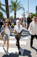 THYLANE BLONDEAU Out in Cannes 08/19/2017