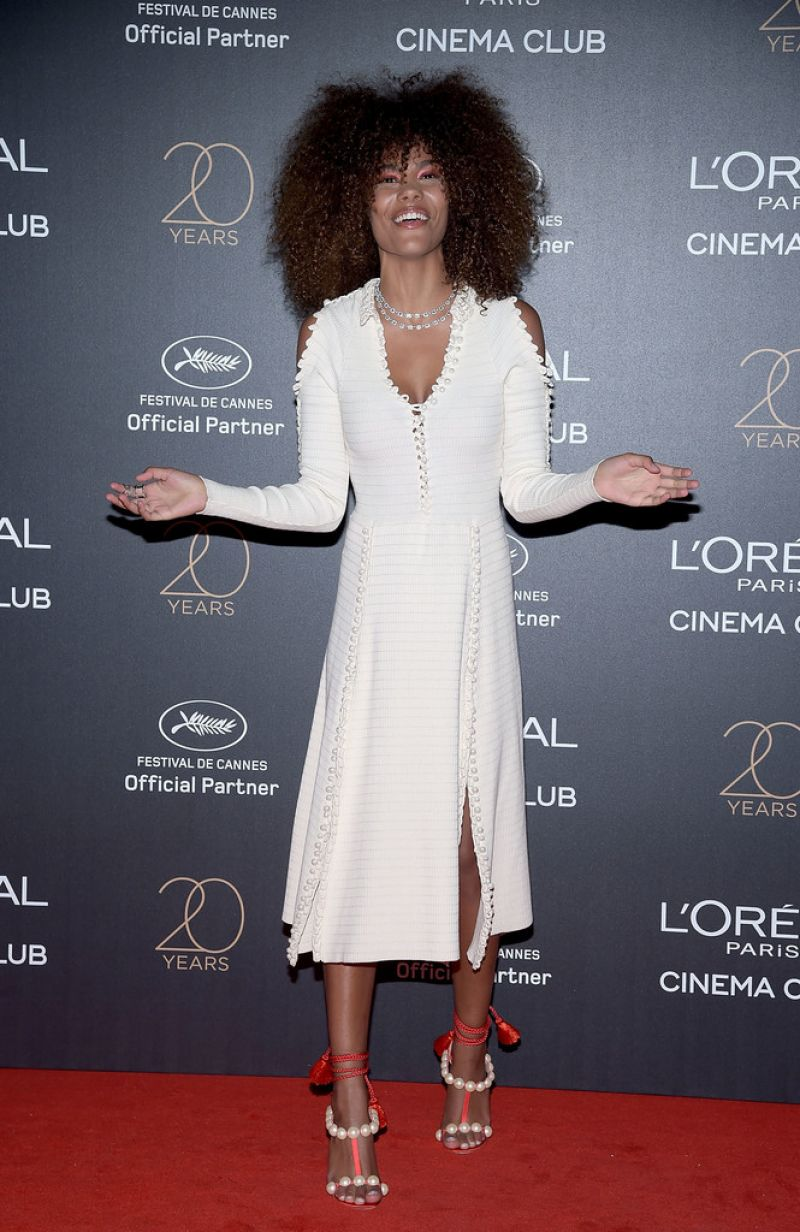 TINA KUNAKEY at L'Oreal 20th Anniversary Party at Cannes Film Festival 05/24/2017