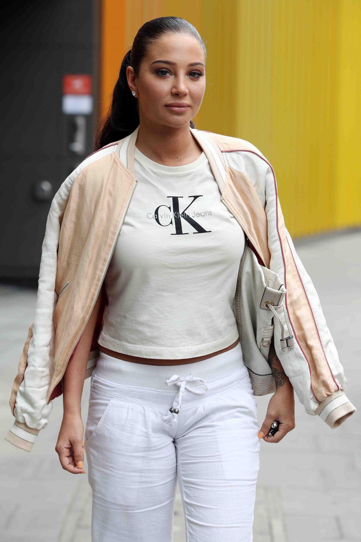 Tulisa Contostavlos In Cosmopolitan Magazine November: TULISA CONTOSTAVLOS Leaves MTV Studios In London 05/08