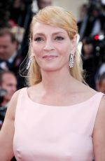 UMA THURMAN at Anniversary Soiree at 70th Annual Cannes Film Festival 05/23/2017
