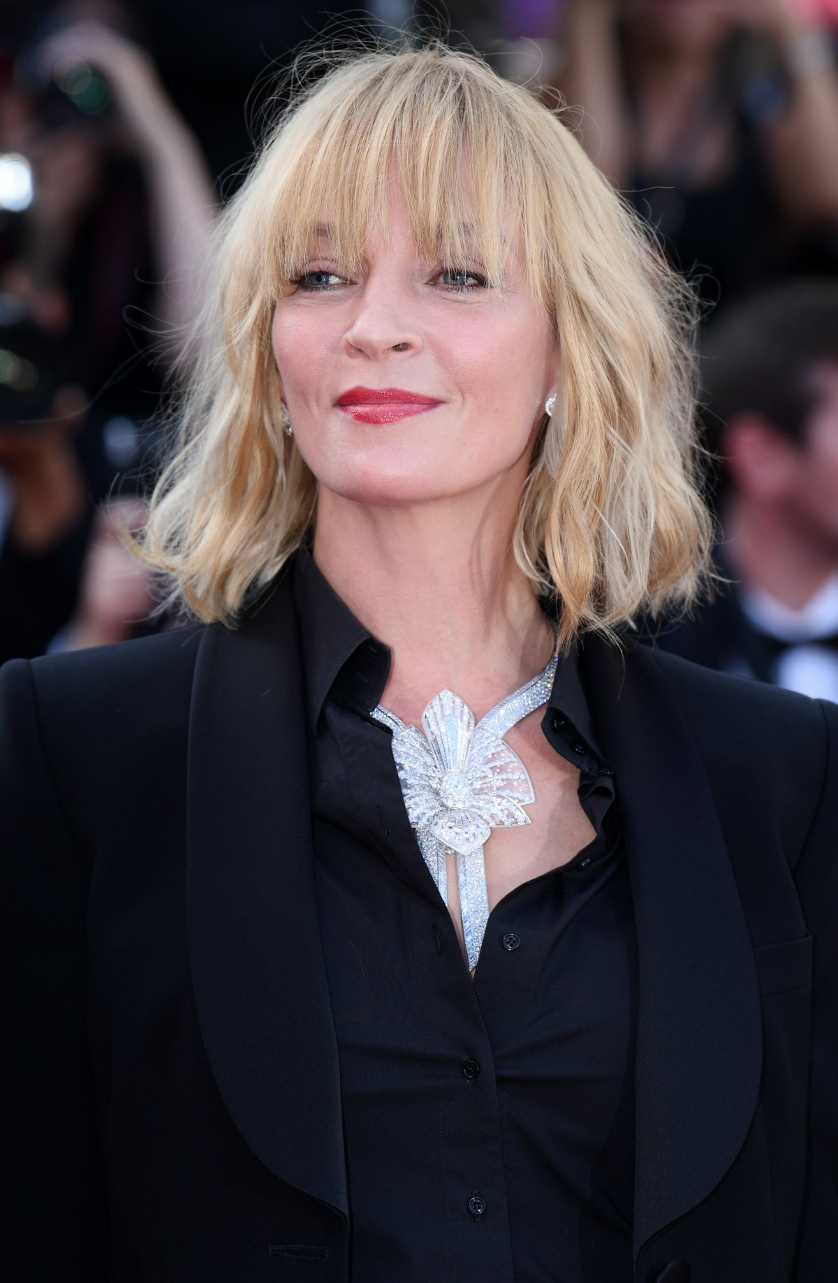 UMA THURMAN at Based on a True Story Premiere at 70th Annual Cannes Film Festival 05/27/2017