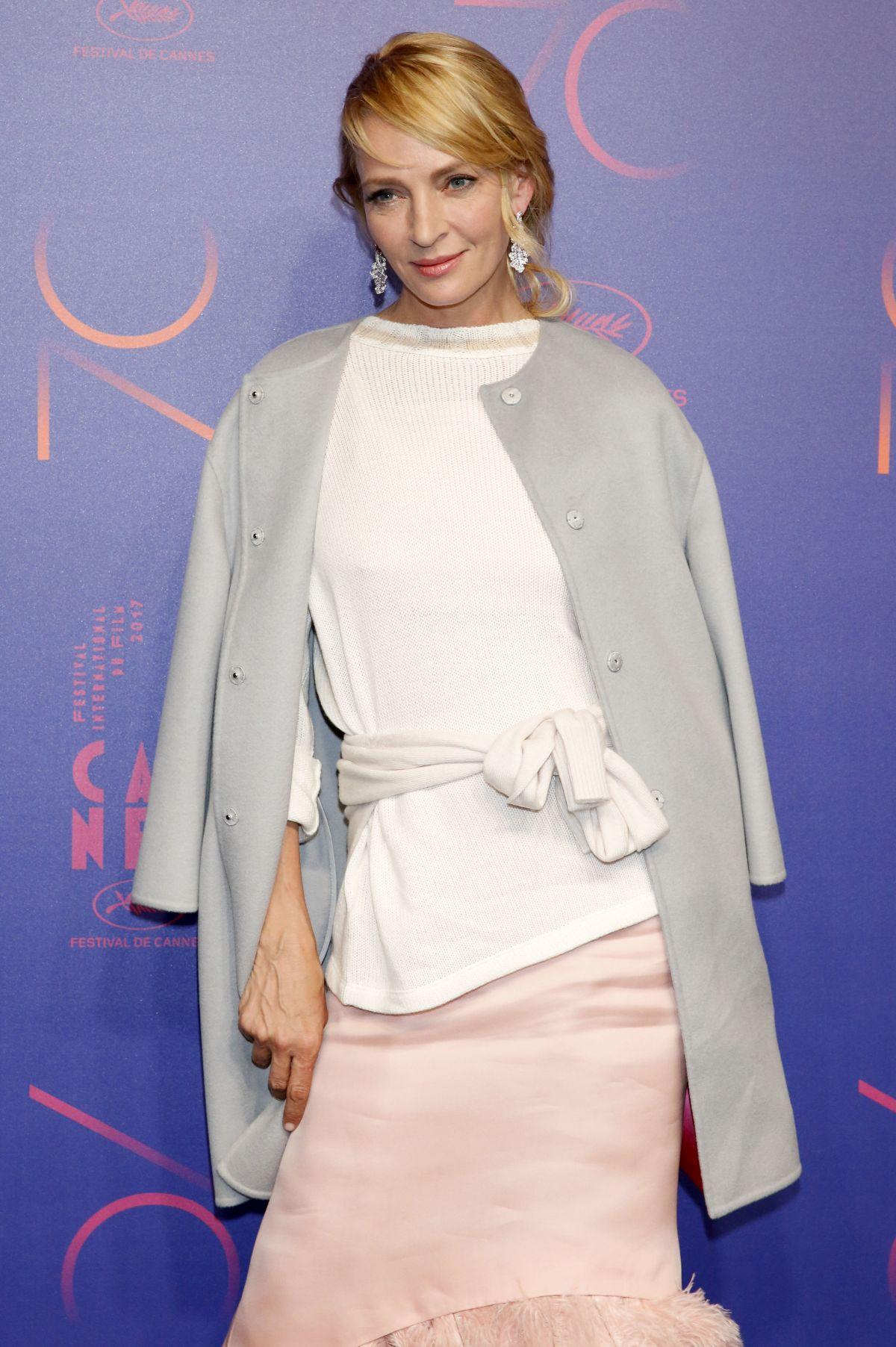 UMA THURMAN at Cannes Film Festival 70th Anniversary Dinner 05/23/2017