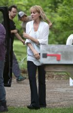 UMA THURMAN on the Set of