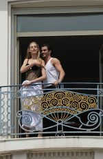 VANESSA AXENTE at Martinez Hotel Balcony in Cannes 05/23/2017