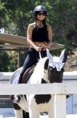 VANESSA HUDGENS at Horseback Riding at a Ranch in Pasadena 05/02/2017
