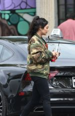 VANESSA HUDGENS in Camouflage Jacket Out for Coffee in Los Angeles 05/06/2017