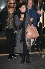VANESSA HUDGENS Leaves Her Hotel in New York 05/08/2017