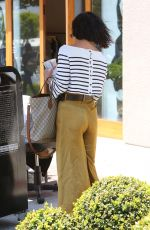 VANESSA HUDGENS Leaves Nine One Zero Salon in Los Angeles 05/16/2017