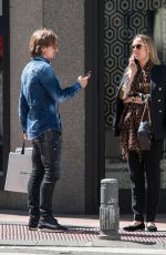 VANJA BOSNIC and Luka Modric Out Shopping in Madrid 04/30/2017