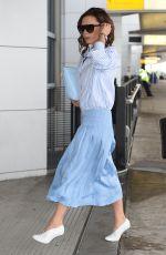 VICTORIA BECKHAM at JFK Airport in New York 05/13/2017