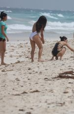 VICTORIA JUSTICE and MADISON REED in Swimsuits at a Beach in Cancun 05/29/2017