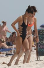 VICTORIA JUSTICE in Swimsuit on the Beach in Cancun 05/29/2017