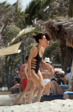VICTORIA JUSTICE in Swimsuit on Vacation in Cancun 05/29/2017