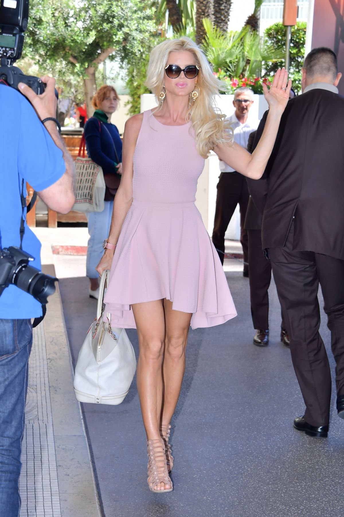 VICTORIA SILVSTEDT Arrives at Martinez Hotel in Cannes 05/18/2017