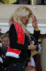 VICTORIA SILVSTEDT at Football Champions League Semi-final in Monaco 05/03/2017