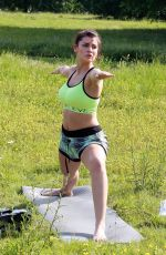 VIVIANA ROSS Working Out at a Park in London 05/28/2017