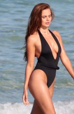 XENIA DELI in Swimsuit on the Set of a Photoshoot on Miami Beach 05/10/2017